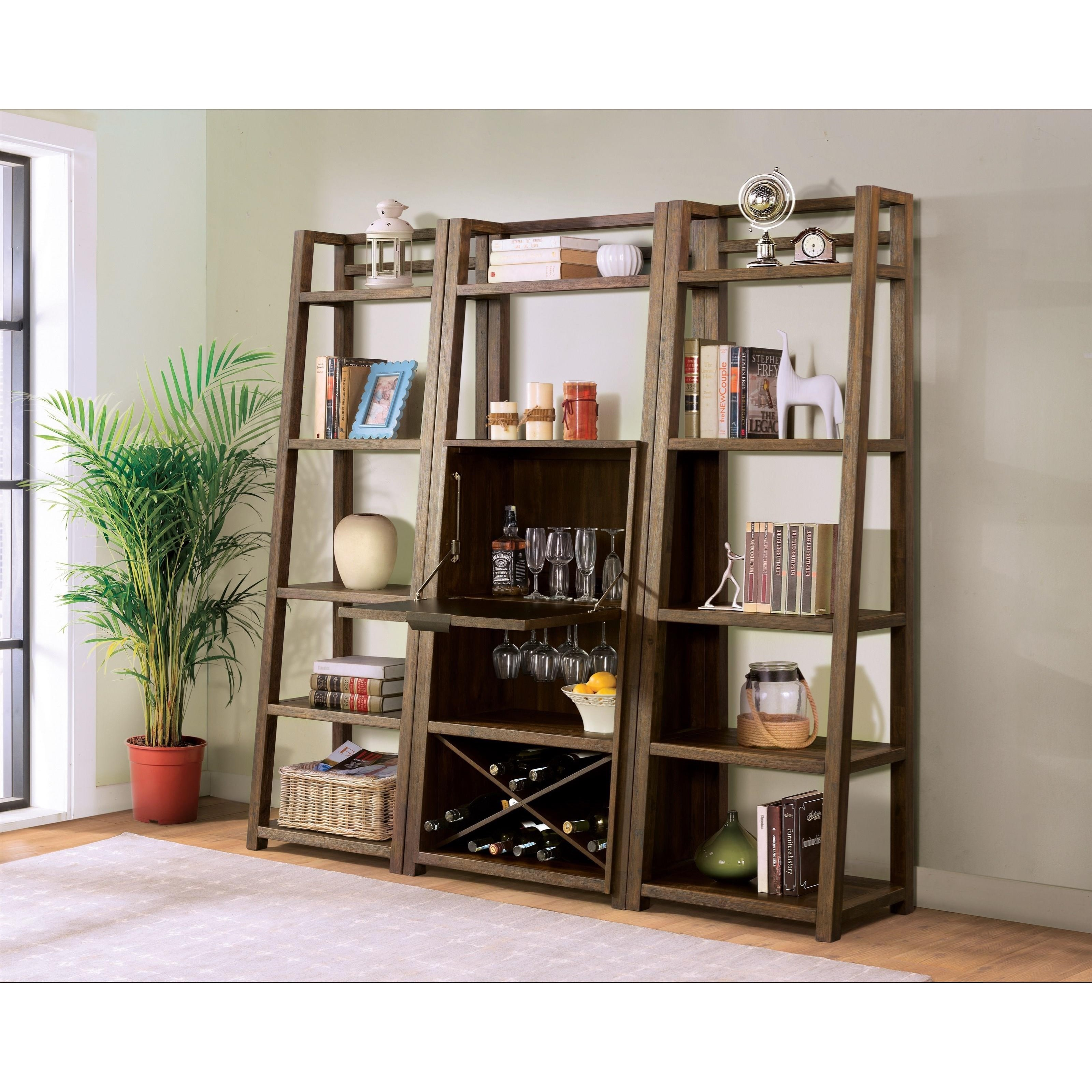 Riverside Furniture Perspectives Bar Cabinet With Wine Bottle And Glass Racks Jacksonville