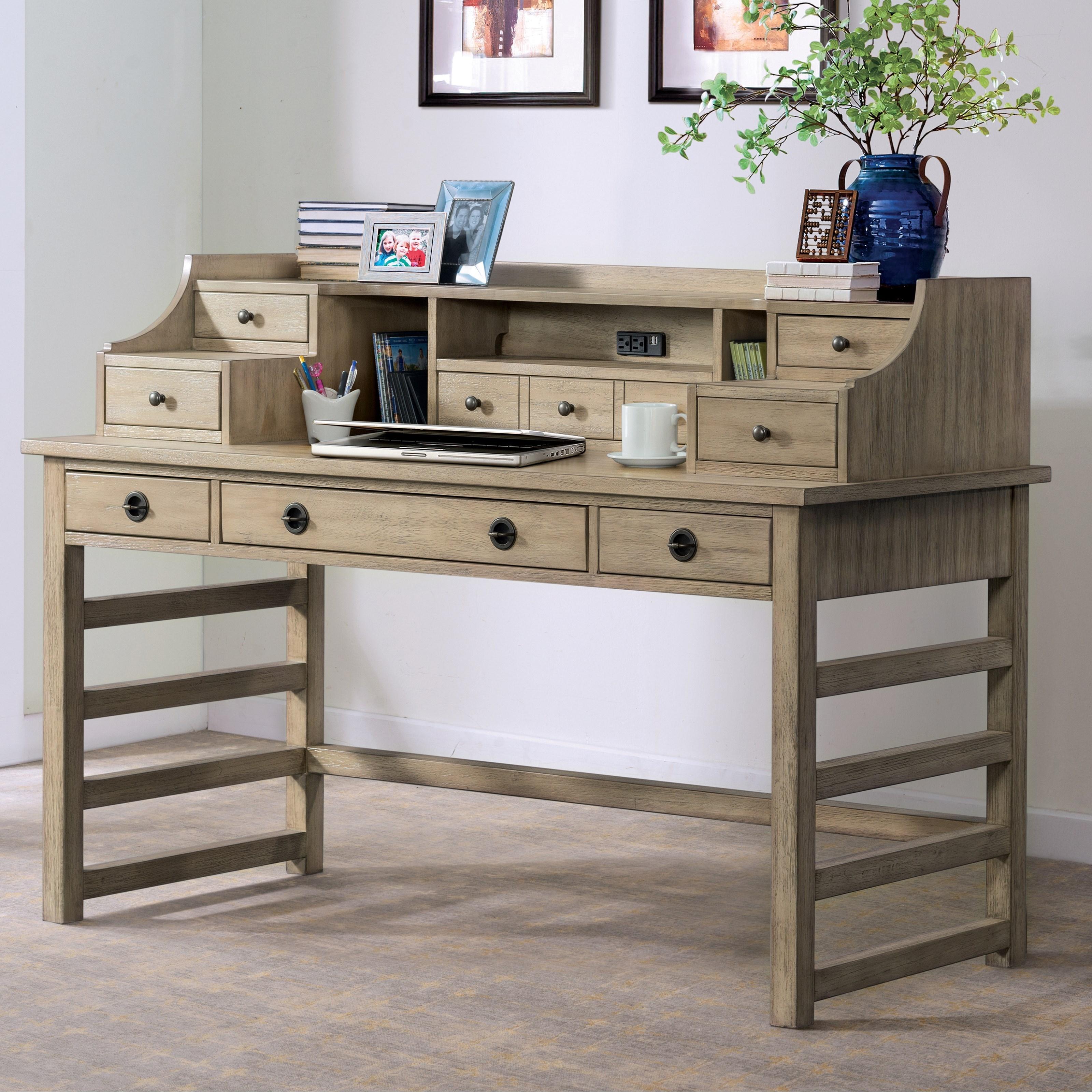 Riverside furniture perspectives 28131 leg desk with hutch for Hudsons furniture
