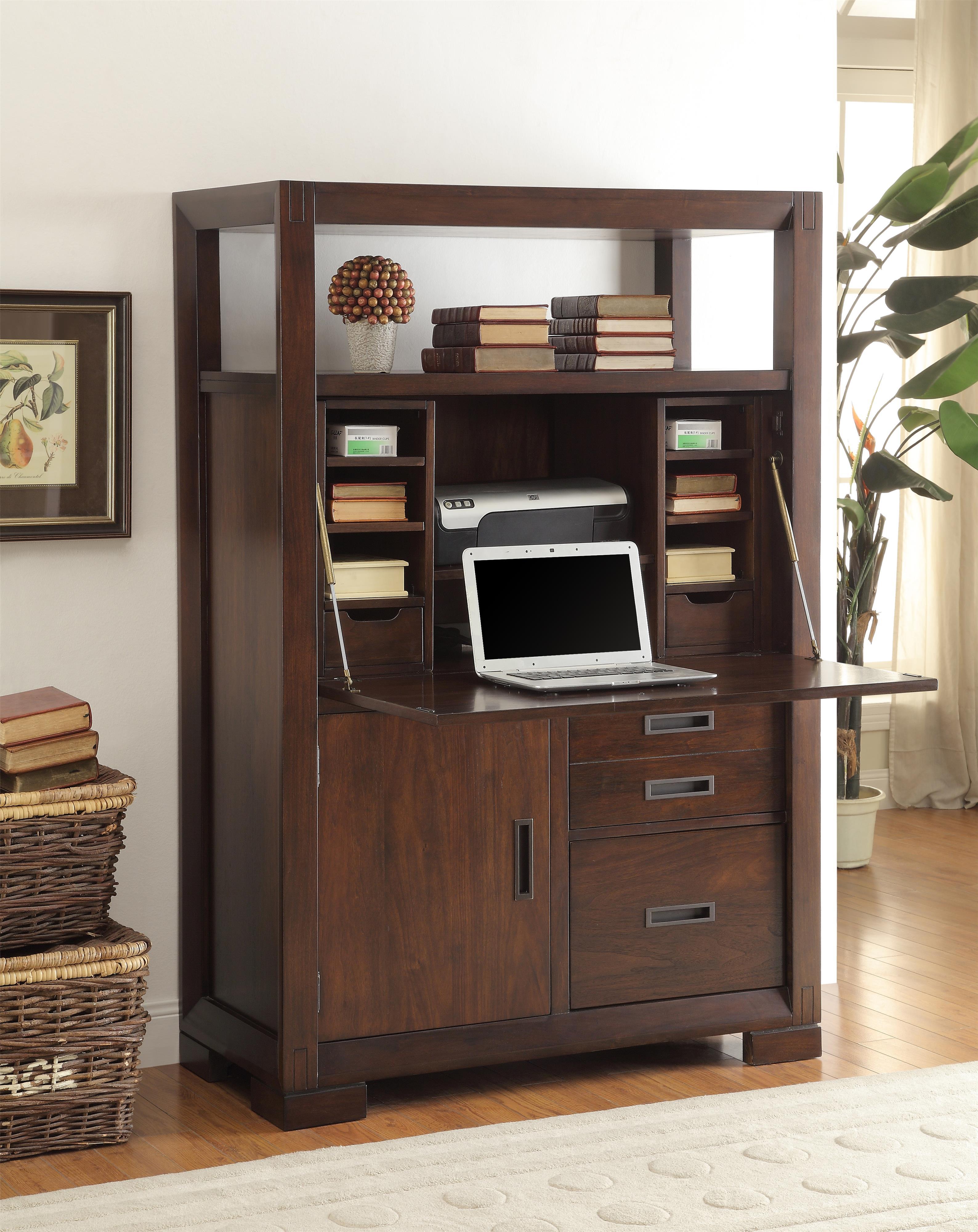 Riverside Furniture Riata Computer Armoire W Drop Front