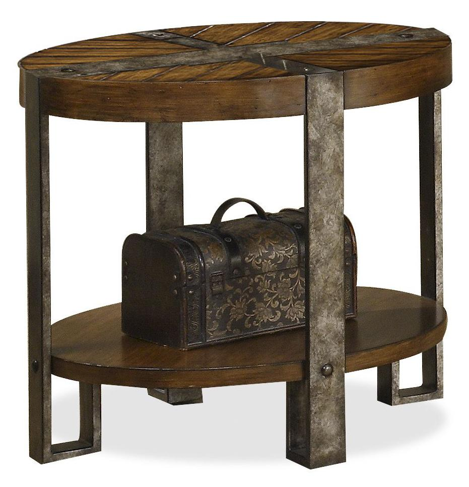 Riverside furniture sierra 3409 oval side table with metal for End tables for sale near me