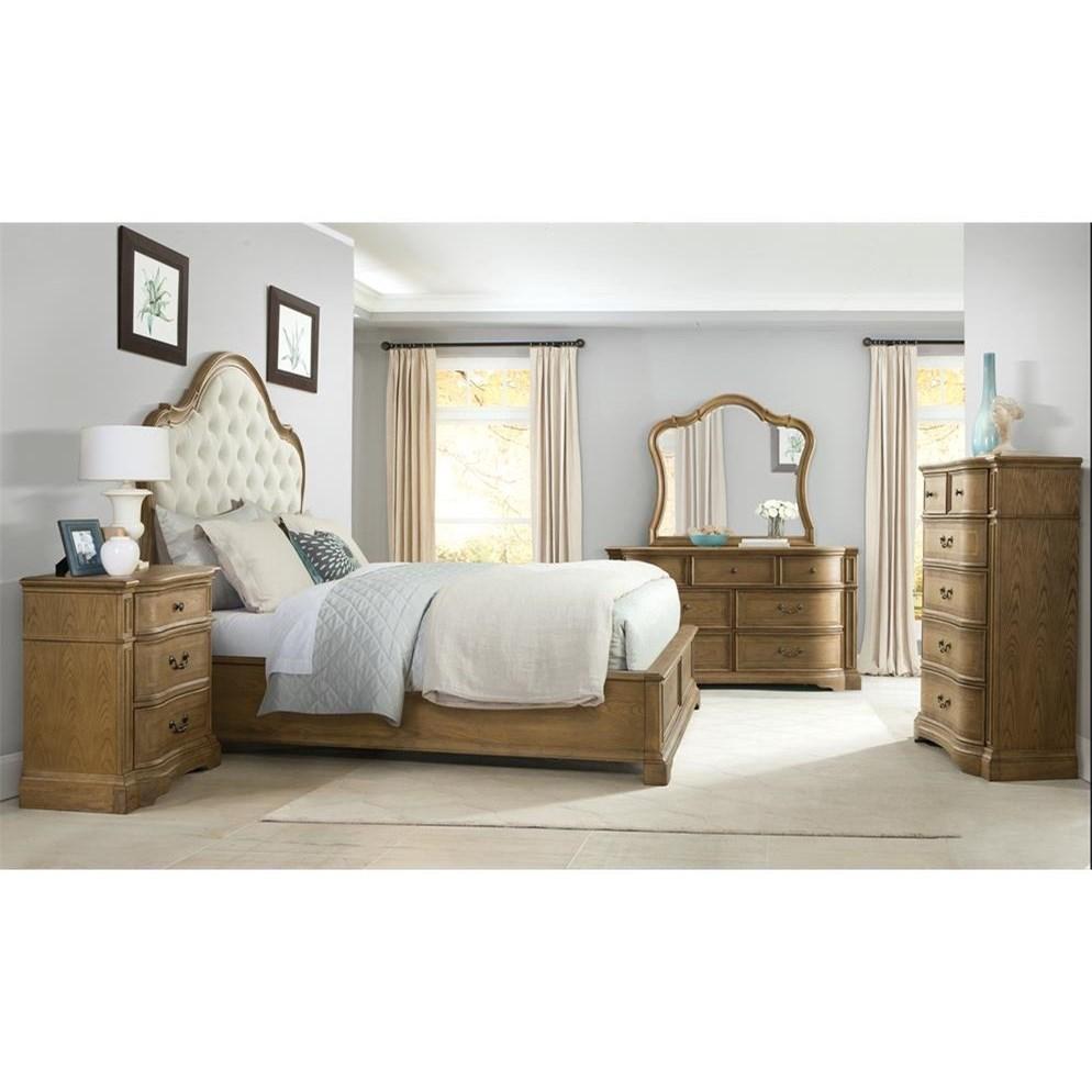 Riverside furniture verona queen bedroom group coconis for Bedroom groups