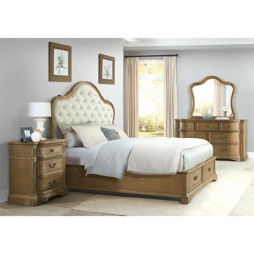 Riverside furniture verona king bedroom group value city for Bedroom groups