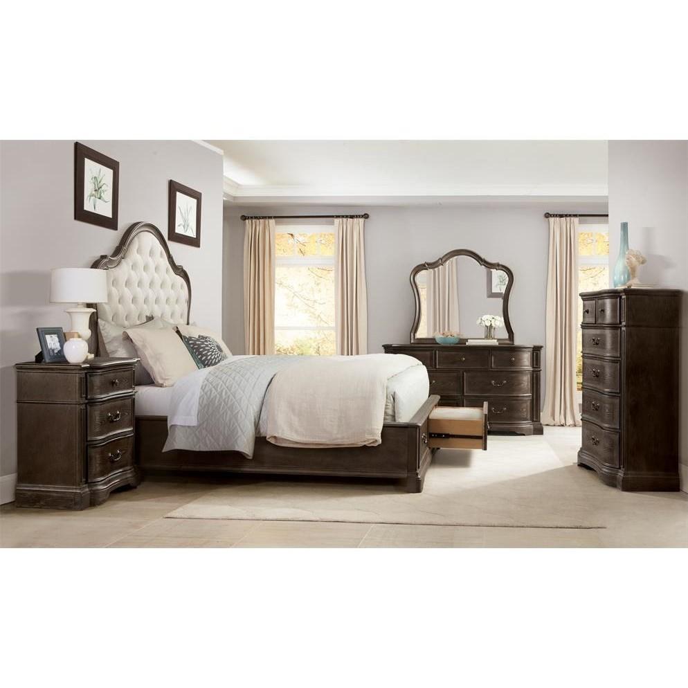 Riverside furniture verona queen bedroom group hudson 39 s for Bedroom groups