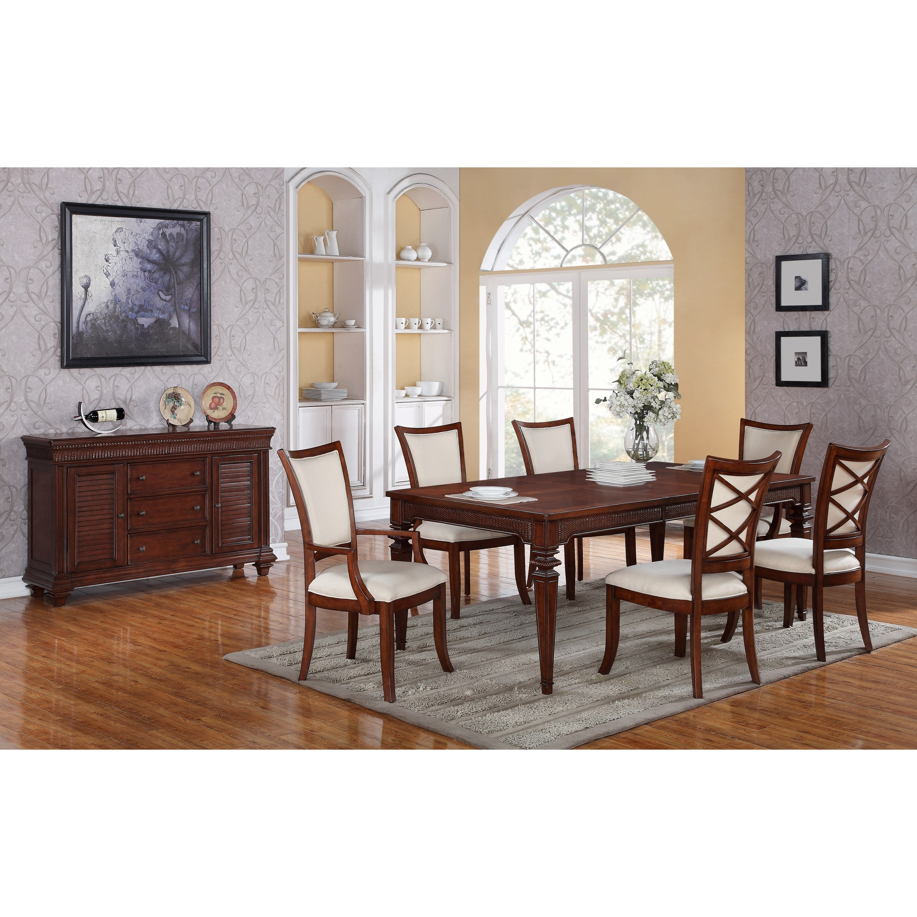 Riverside furniture windward bay formal dining room group for Hudsons furniture