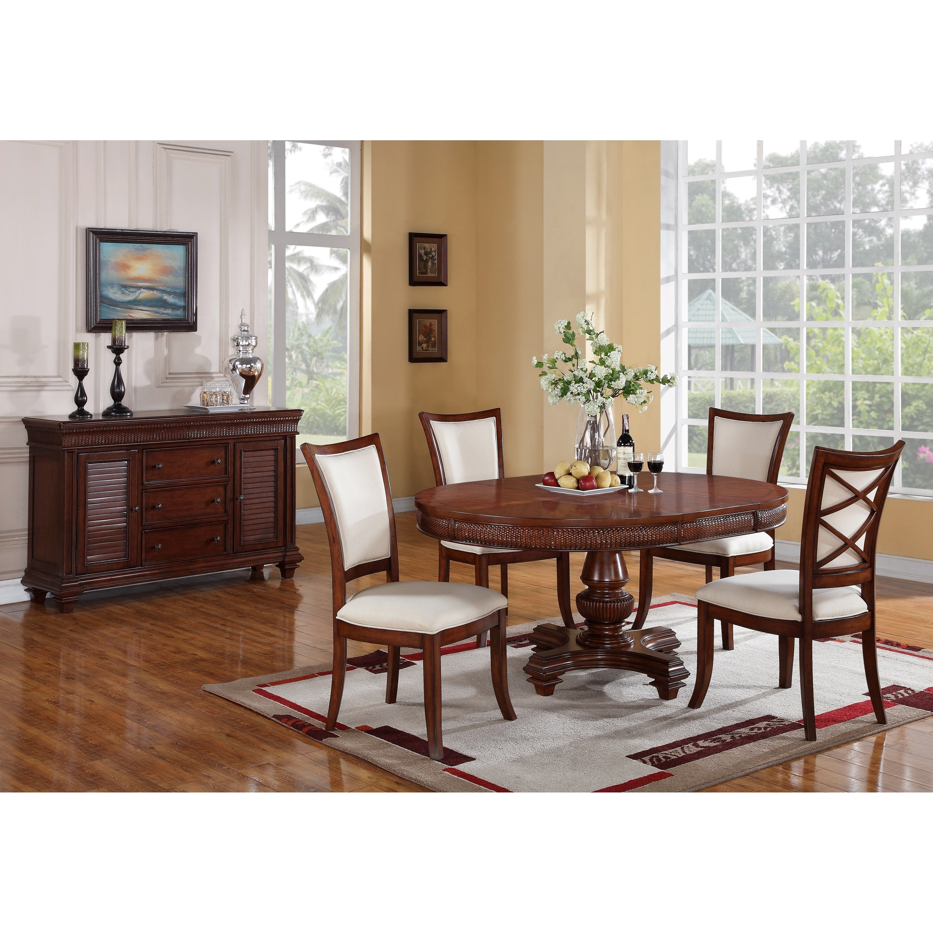 Riverside furniture windward bay casual dining room group for Casual dining room