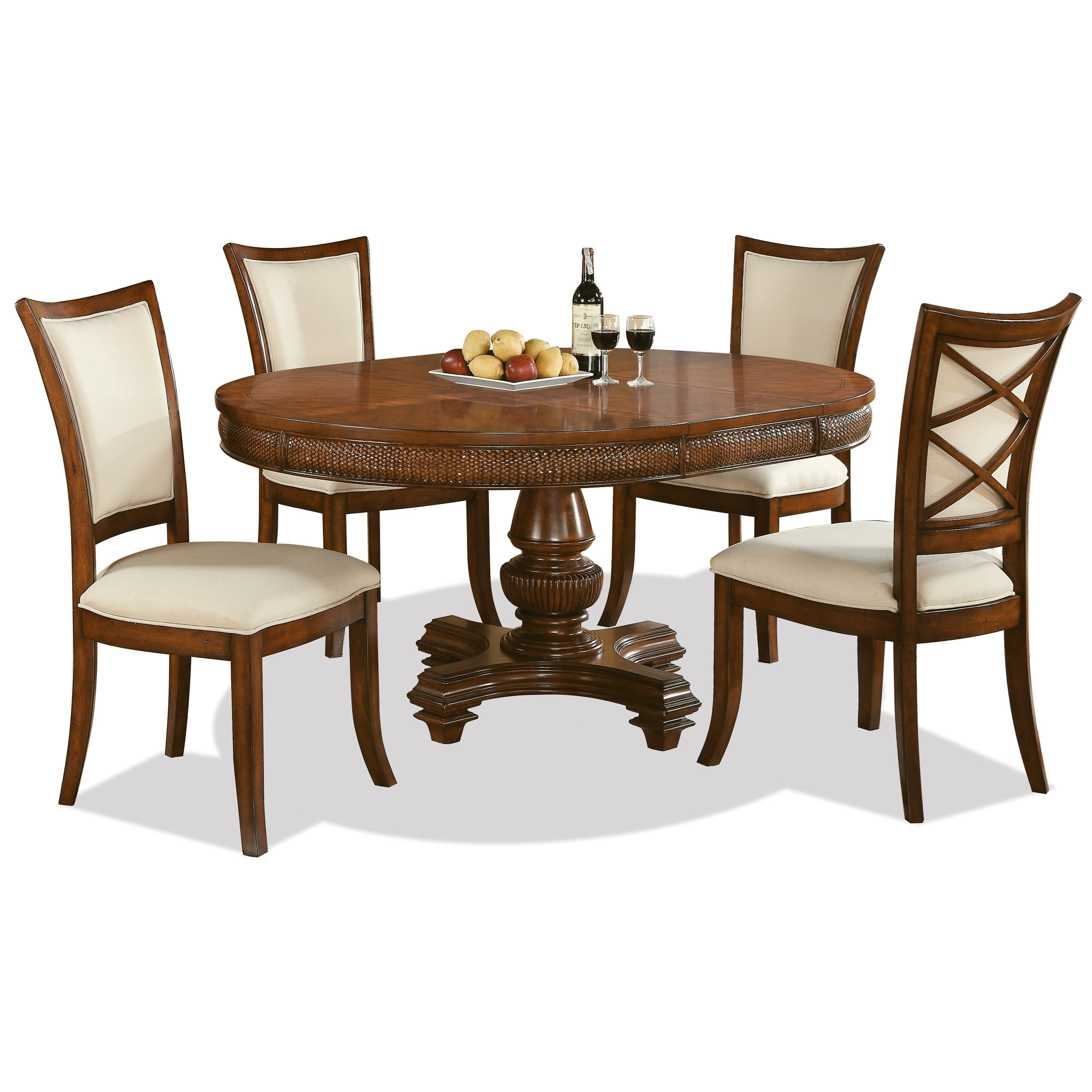 riverside furniture windward bay 5 piece round table and