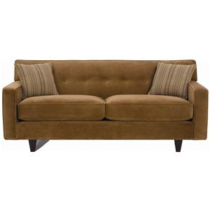 Rowe dorset small button tufted sofa with exposed wood for Small tufted sofa