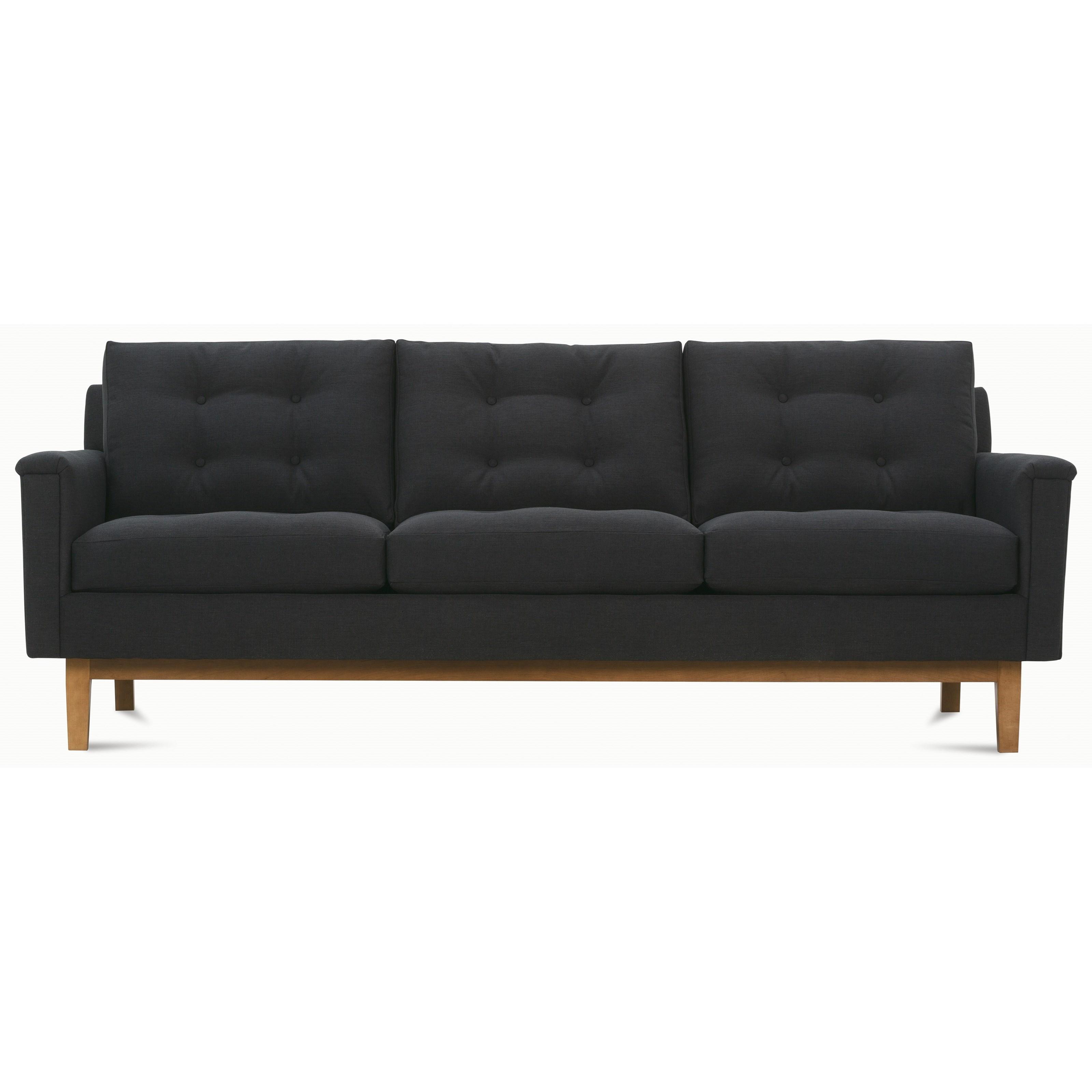 Mid Century Modern Sofa Pillows : Rowe Ethan P160-002 Mid-Century Modern Sofa with Tufted Back Pillows Becker Furniture World ...
