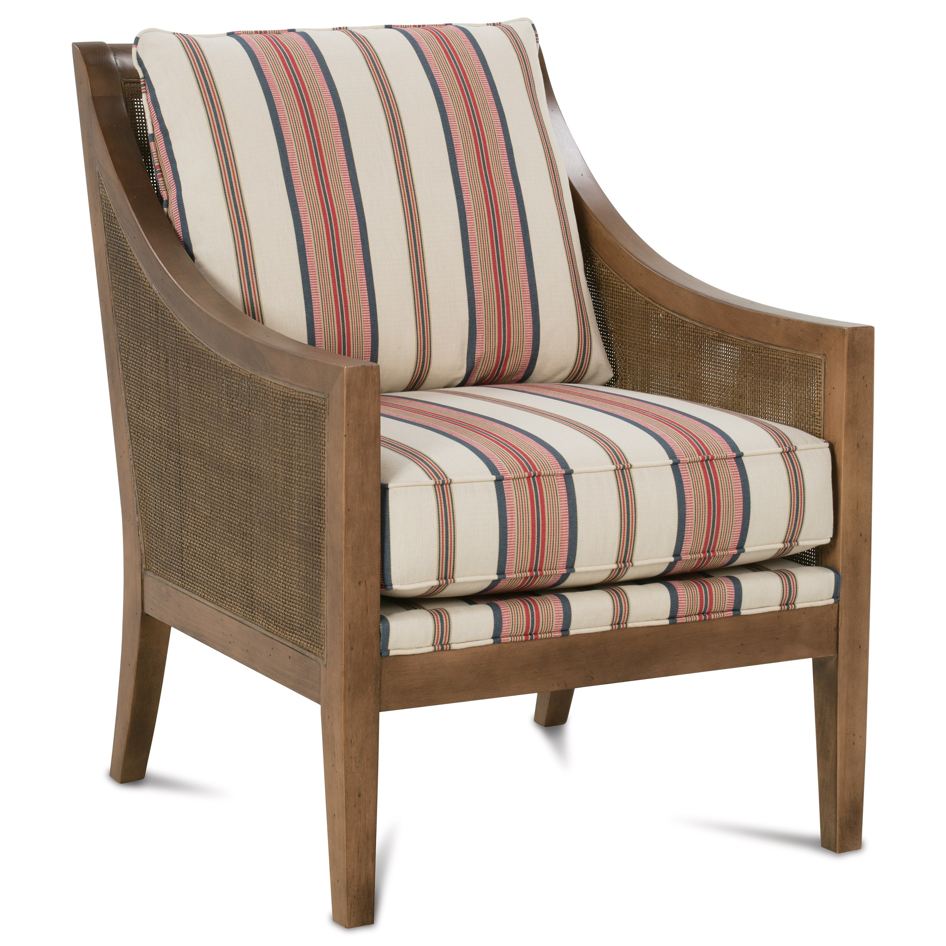 Rowe finley n960 006 casual accent chair with woven wood for Furniture 80s band