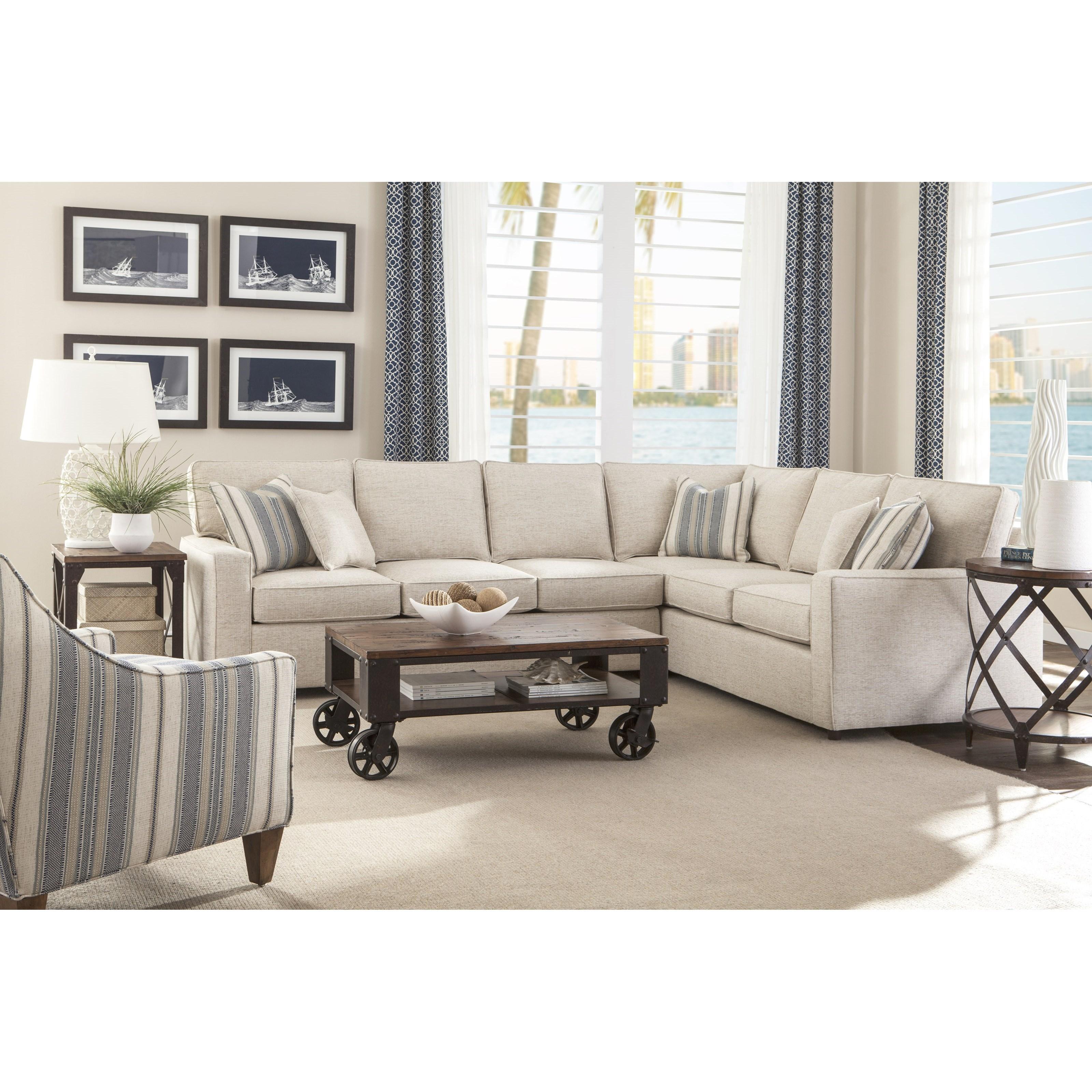 Rowe Monaco Corner Sectional Sofa Baer S Furniture