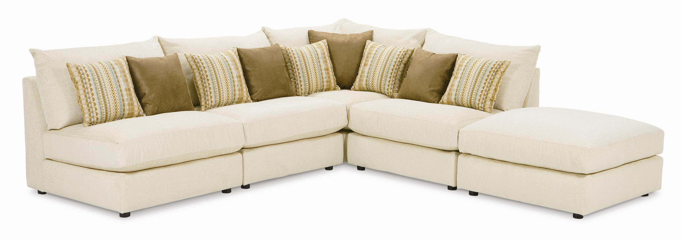 Armless Sectional Sofa Carson Armless Taupe Sectional Sofa