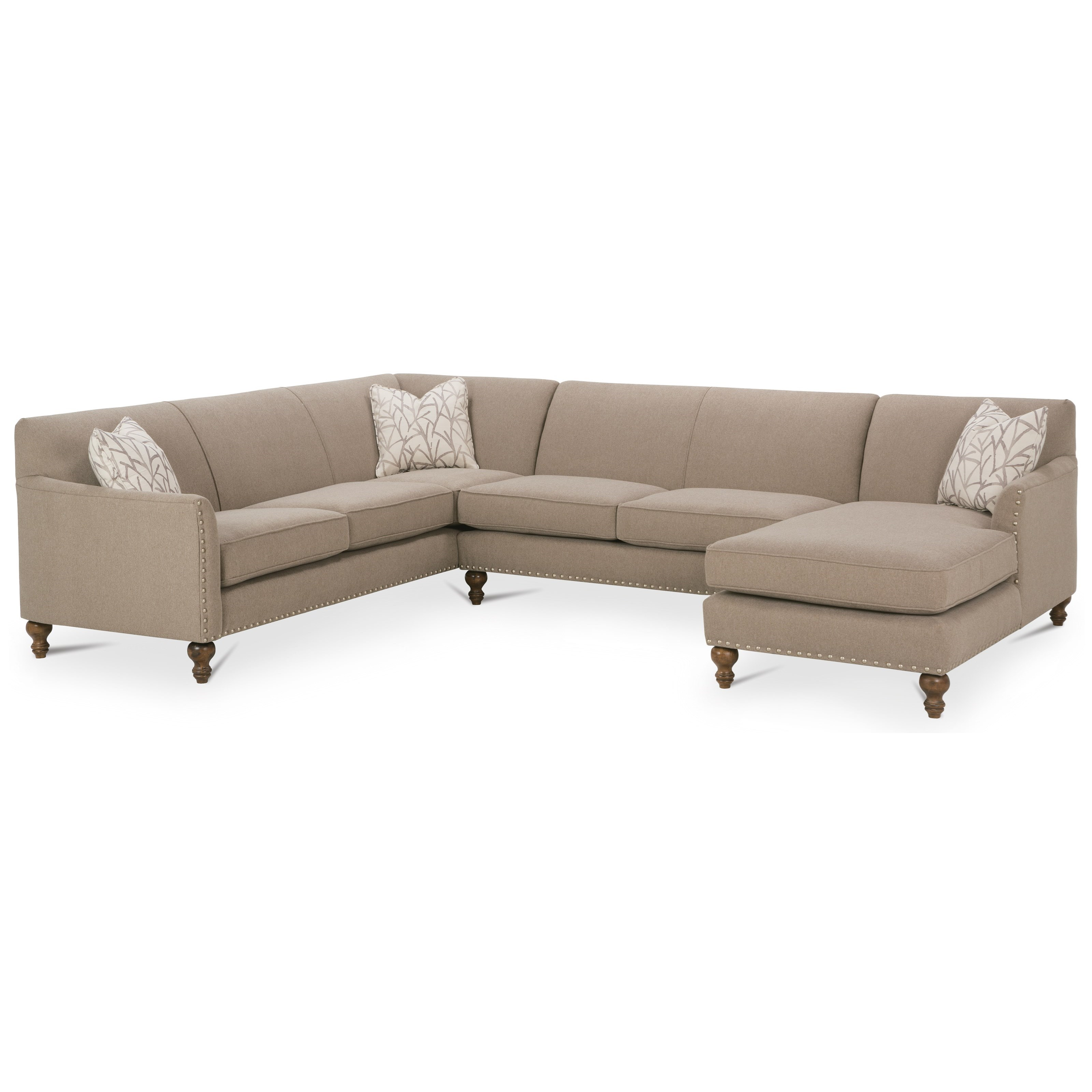 Rowe varick rxo customizable 3 piece sectional sofa w laf for 3 pc sectional sofa with chaise