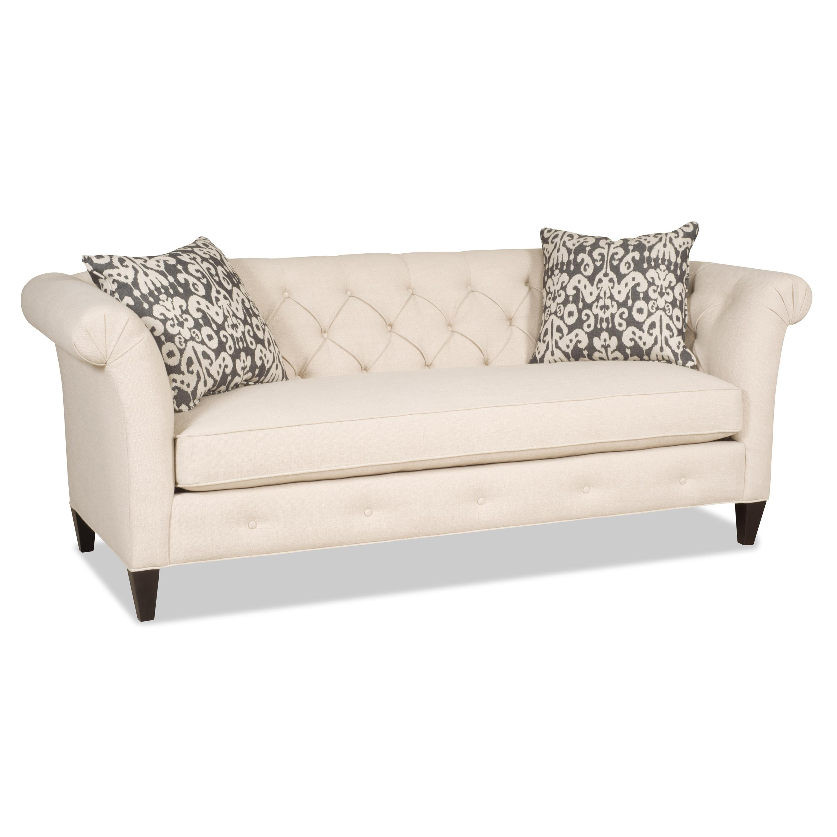 Astrid Traditional Bench Sofa with Tufted Back by Sam