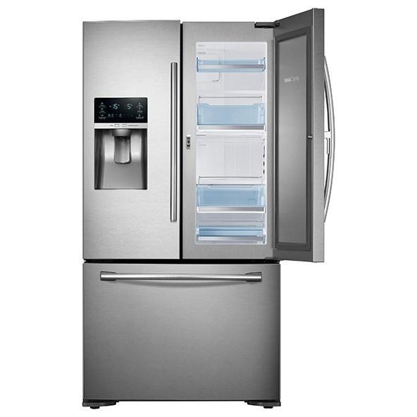 23 cu ft counter depth 3 door food showcase refrigerator