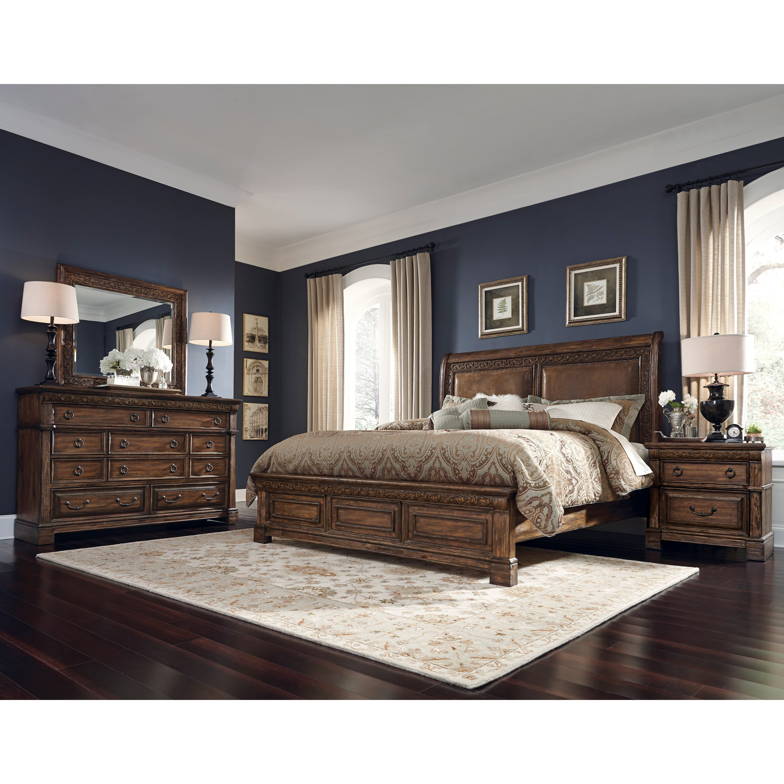 samuel lawrence barcelona queen bedroom group 1