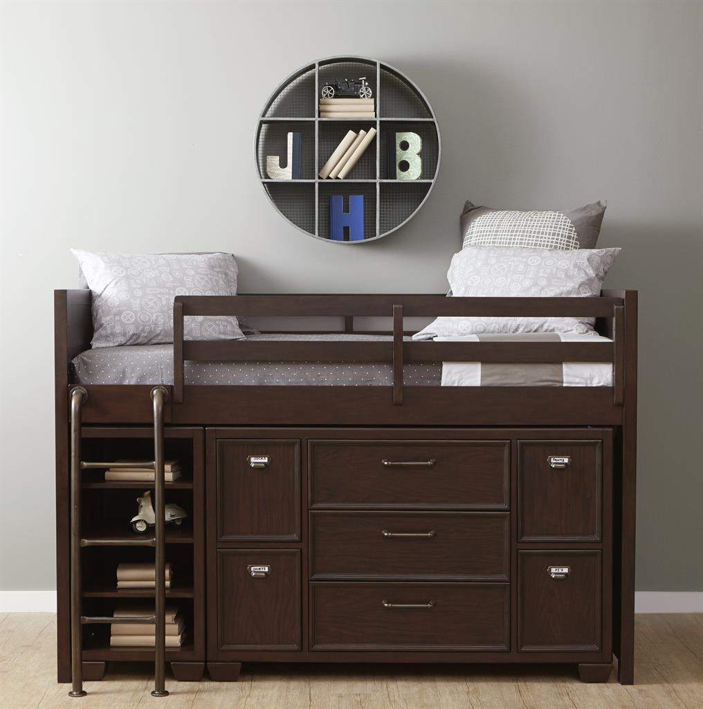 Kidz gear mason twin loft storage bed belfort furniture for Loft net bed