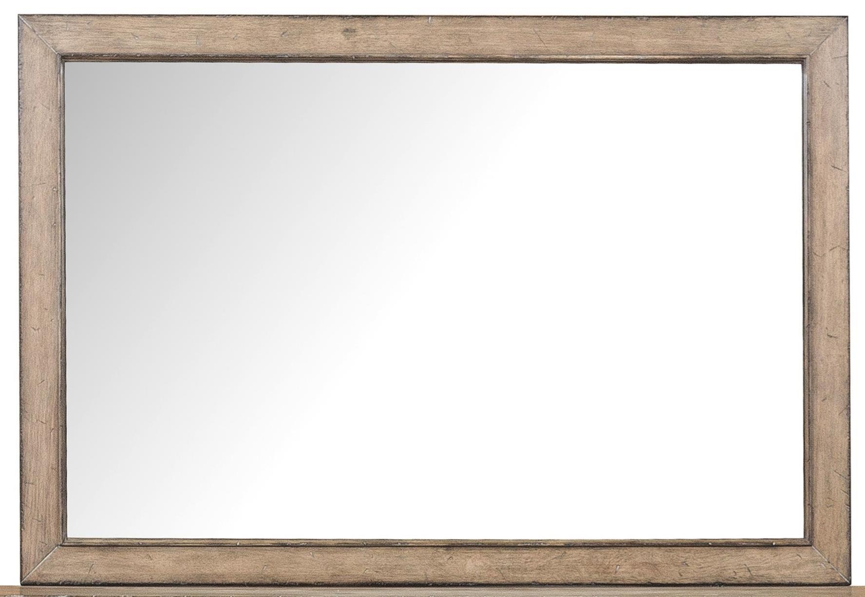 Samuel lawrence flatbush bureau beveled mirror royal for Bureau with mirror