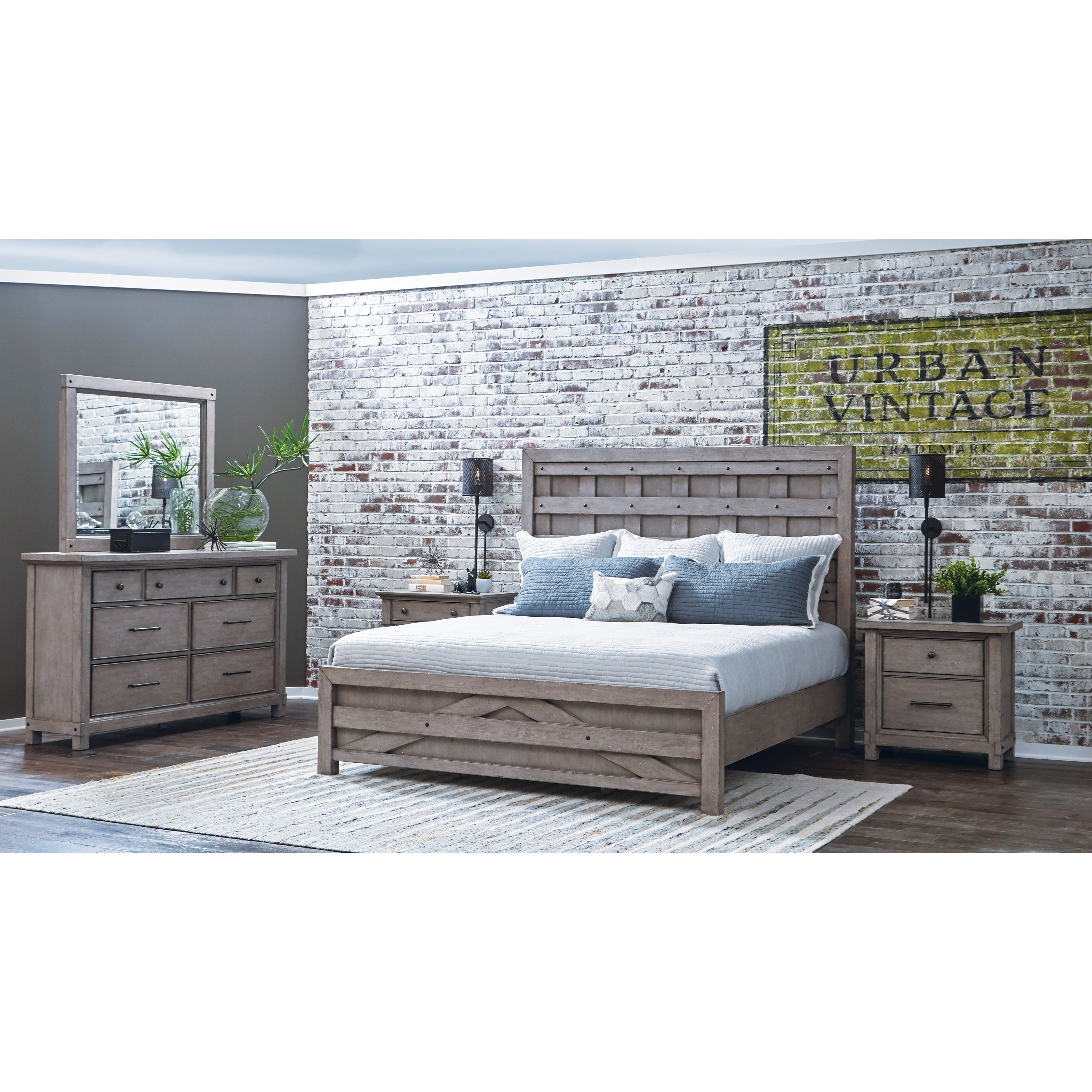 Samuel lawrence prospect hill queen pallet bed and bolt for Bedroom furniture 37027