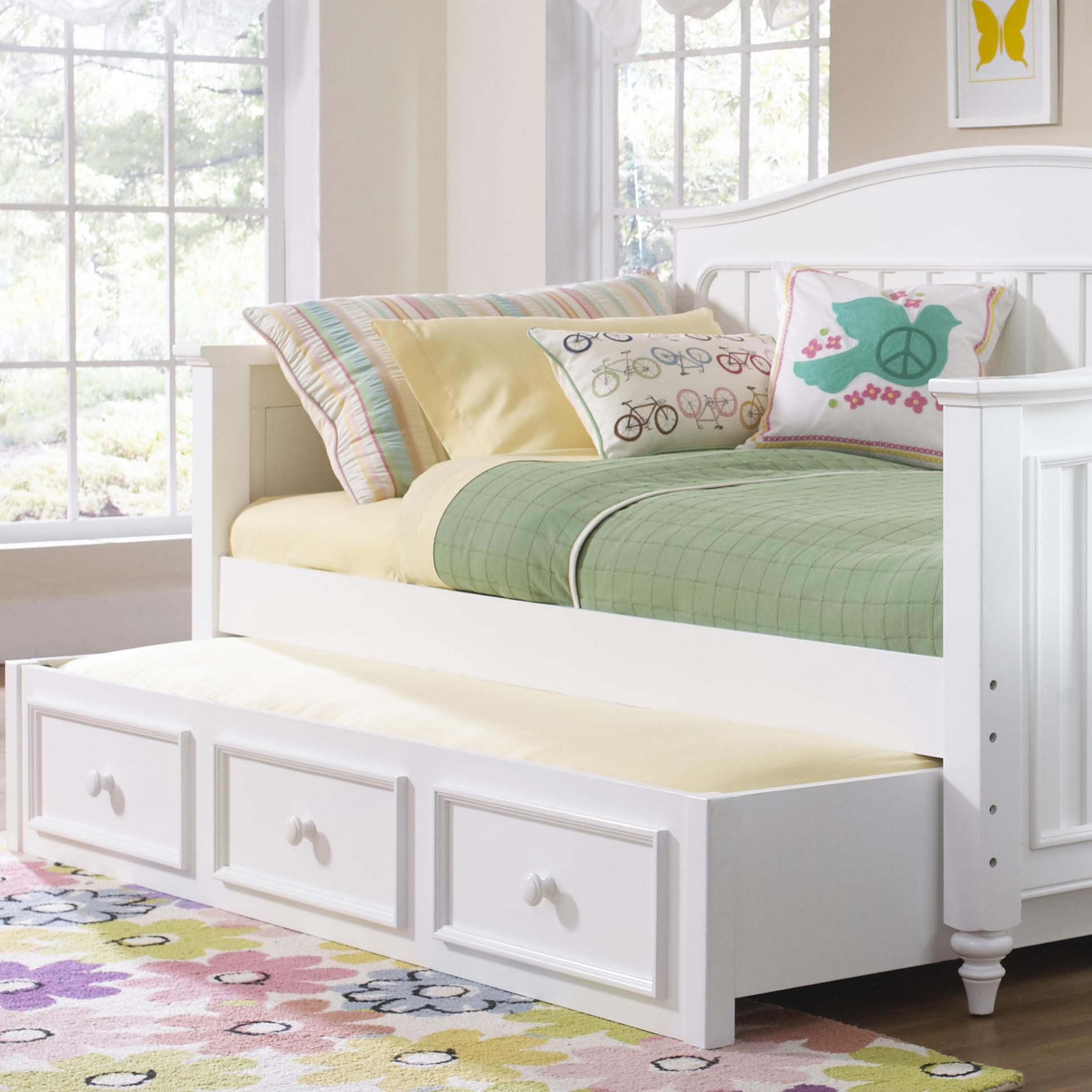 trundle beds with storage samuel summertime youth white day bed with 17585