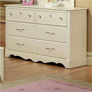 Sandberg furniture enchanted 4 drawer chest with apron for Bedroom bureau knobs