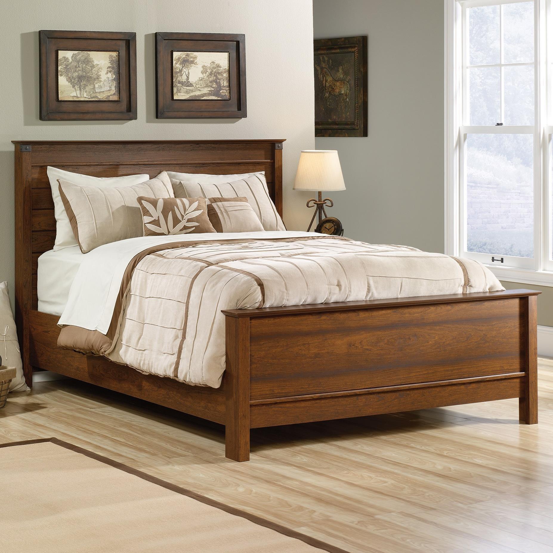 Sauder Carson Forge Queen Bed John V Schultz Furniture Panel Beds
