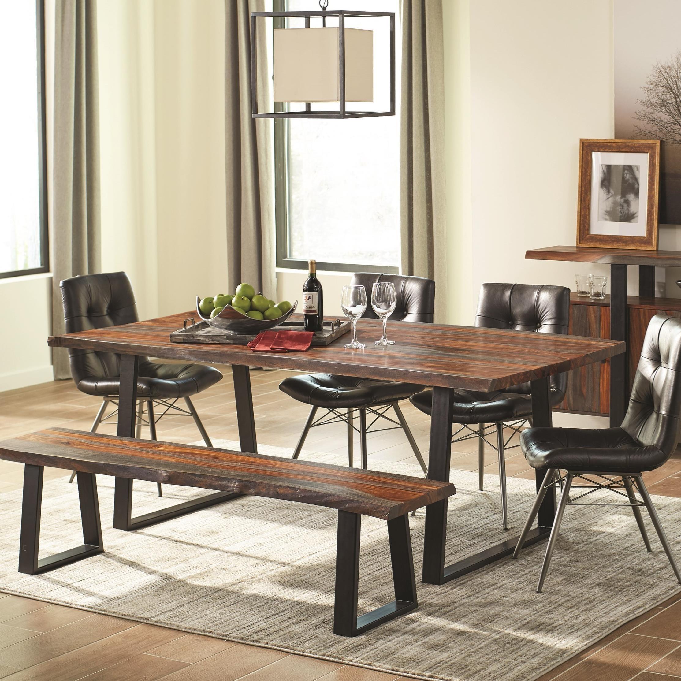 scott living jamestown rustic live edge dining table belfort furniture dining tables. Black Bedroom Furniture Sets. Home Design Ideas