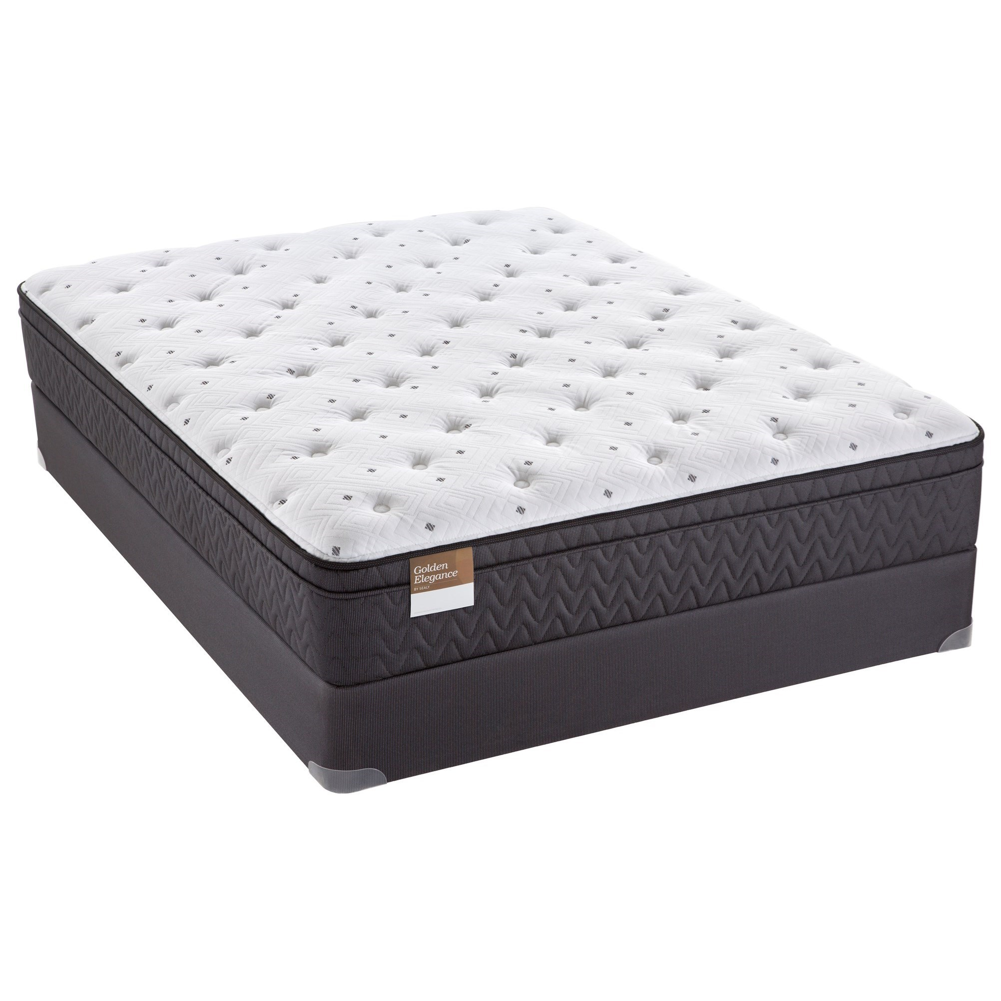 sealy s2 euro top plush twin extra long 12 euro top plush mattress and 9 supportflex. Black Bedroom Furniture Sets. Home Design Ideas