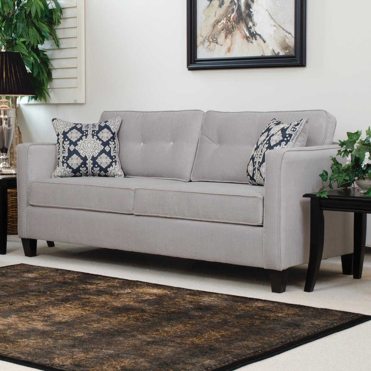 Serta Upholstery By Hughes Furniture 1375 Sofa With Casual Contemporary Style Vandrie Home