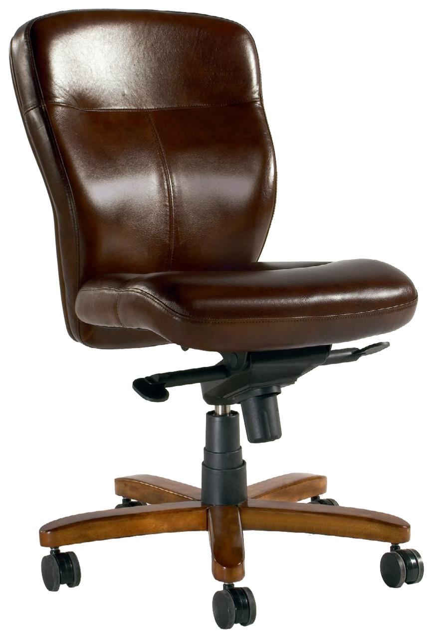 Executive Seating Armless Executive Chair by Hooker Furniture at Miller Waldrop Furniture and Decor