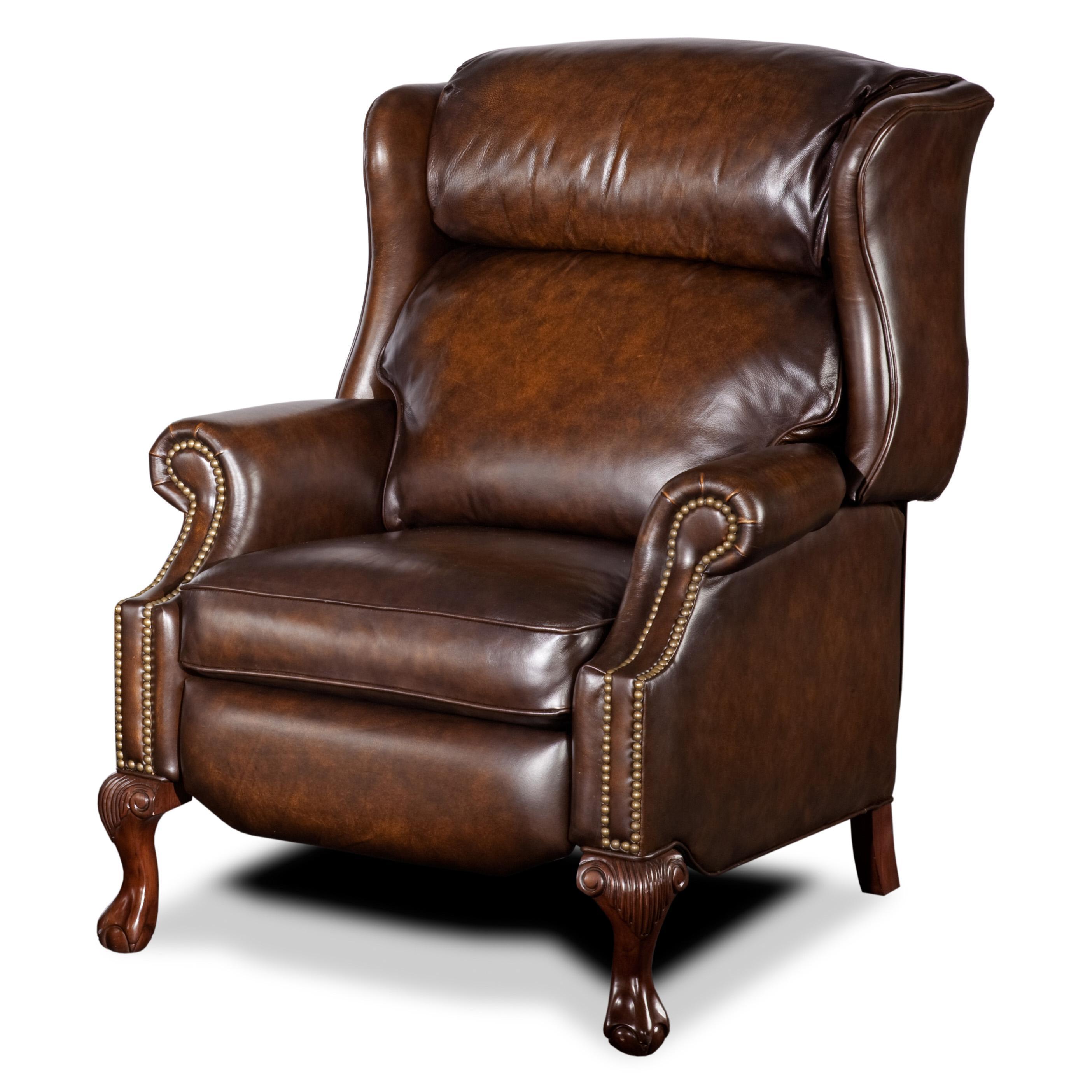 Hooker furniture reclining chairs high leg wing recliner for Recliner chair