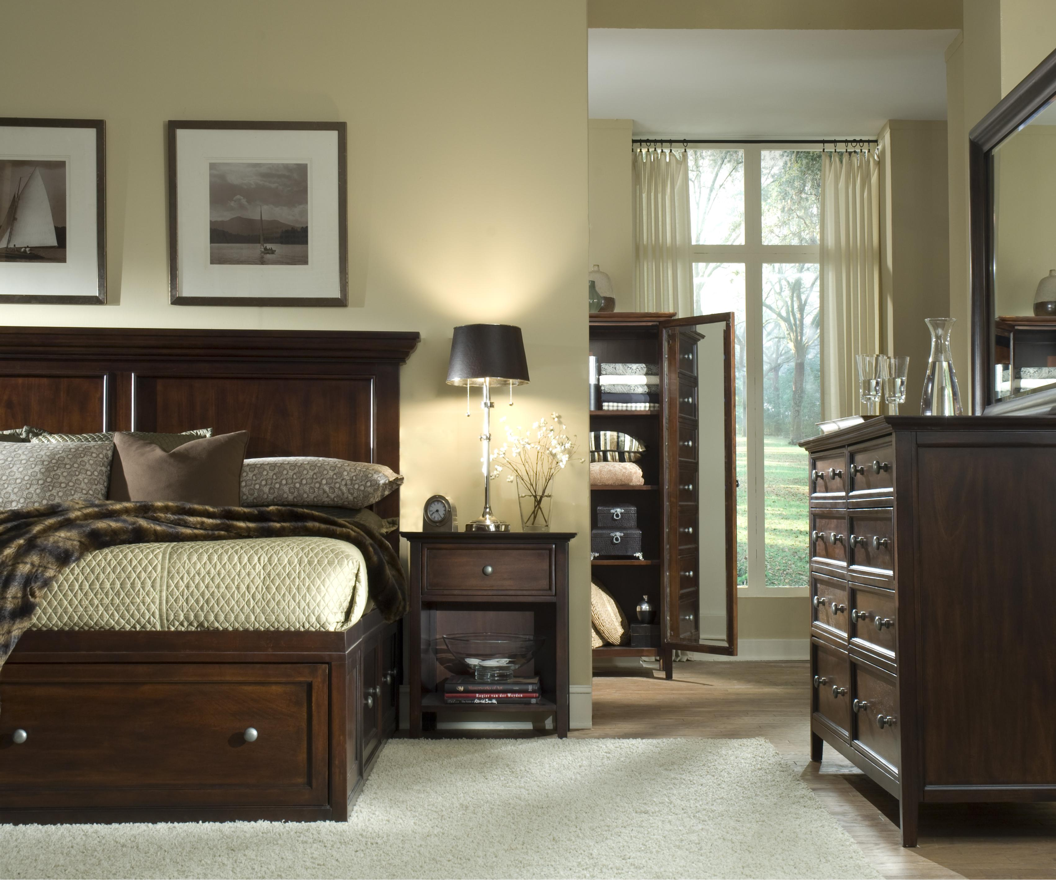 sg spencer transitional king captain storage bed john v schultz furniture captain 39 s bed. Black Bedroom Furniture Sets. Home Design Ideas