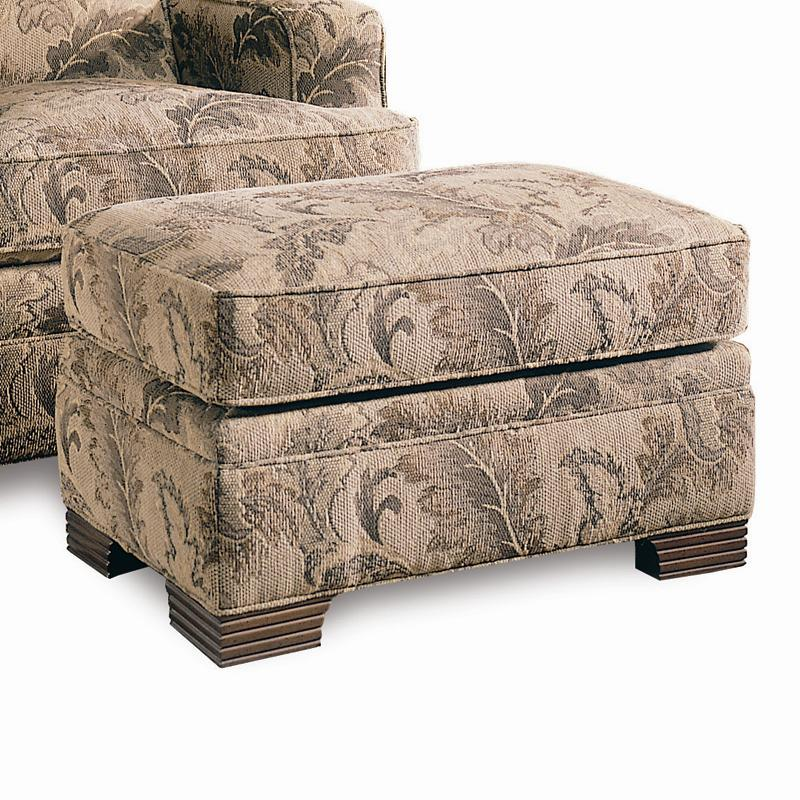 sherrill design your own ottoman with exposed wood feet adcock furniture ottoman. Black Bedroom Furniture Sets. Home Design Ideas
