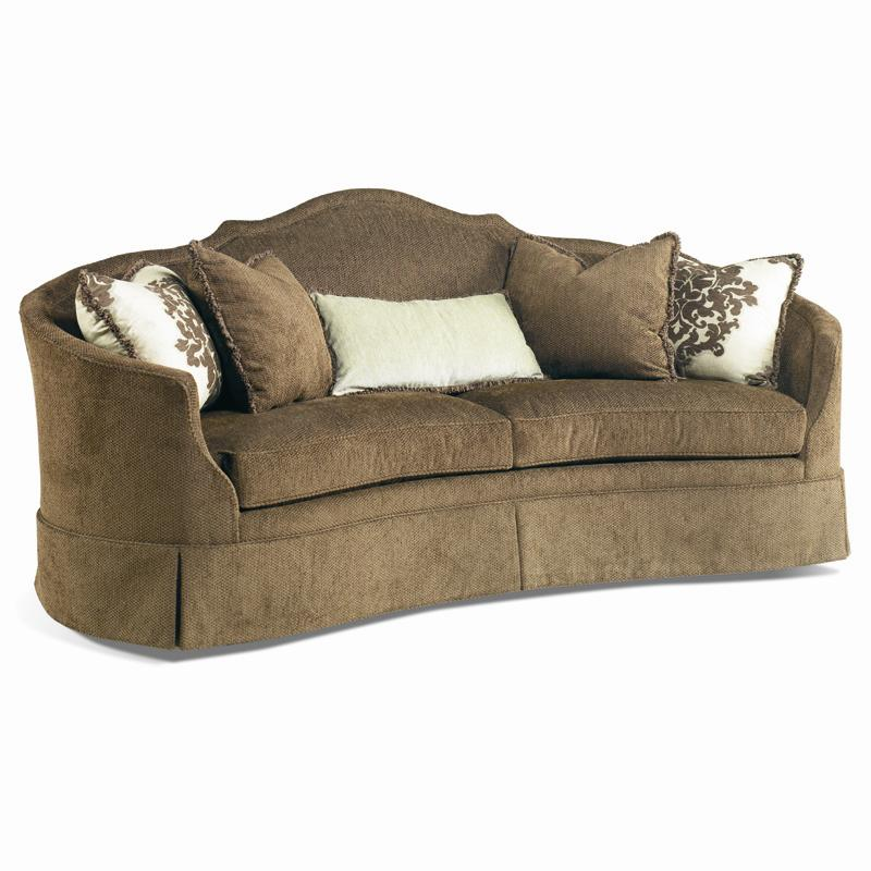 Sherrill Traditional Crescent Front Sofa With Skirt