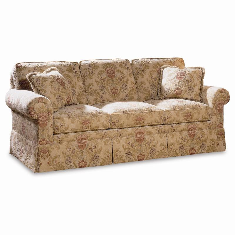 Sherrill Traditional Sofa with Loose Cushion Back and Round Panel Arms Jacksonville Furniture ...