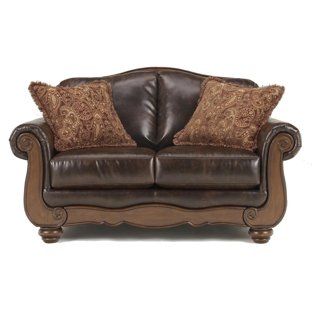 Signature design by ashley barcelona antique traditional for Traditional loveseat