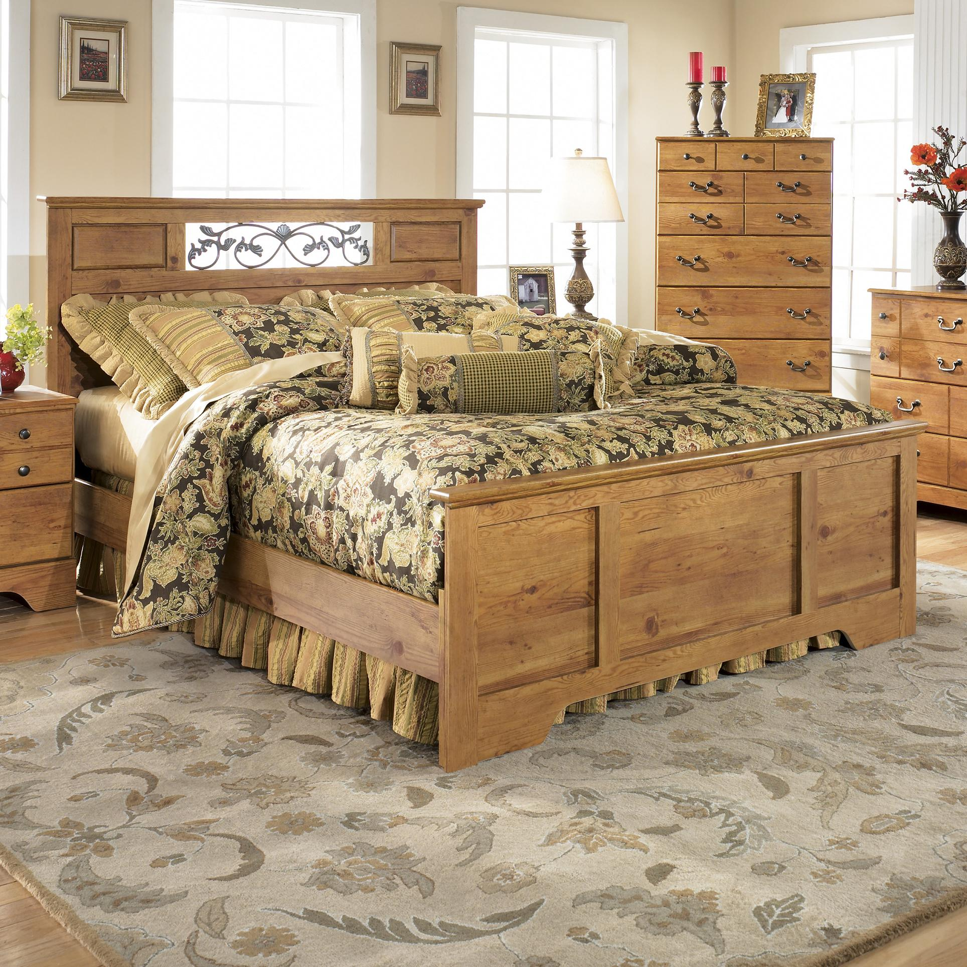 Ashley Signature Design Bittersweet Queen Panel Bed Dunk Bright Furniture Panel Beds