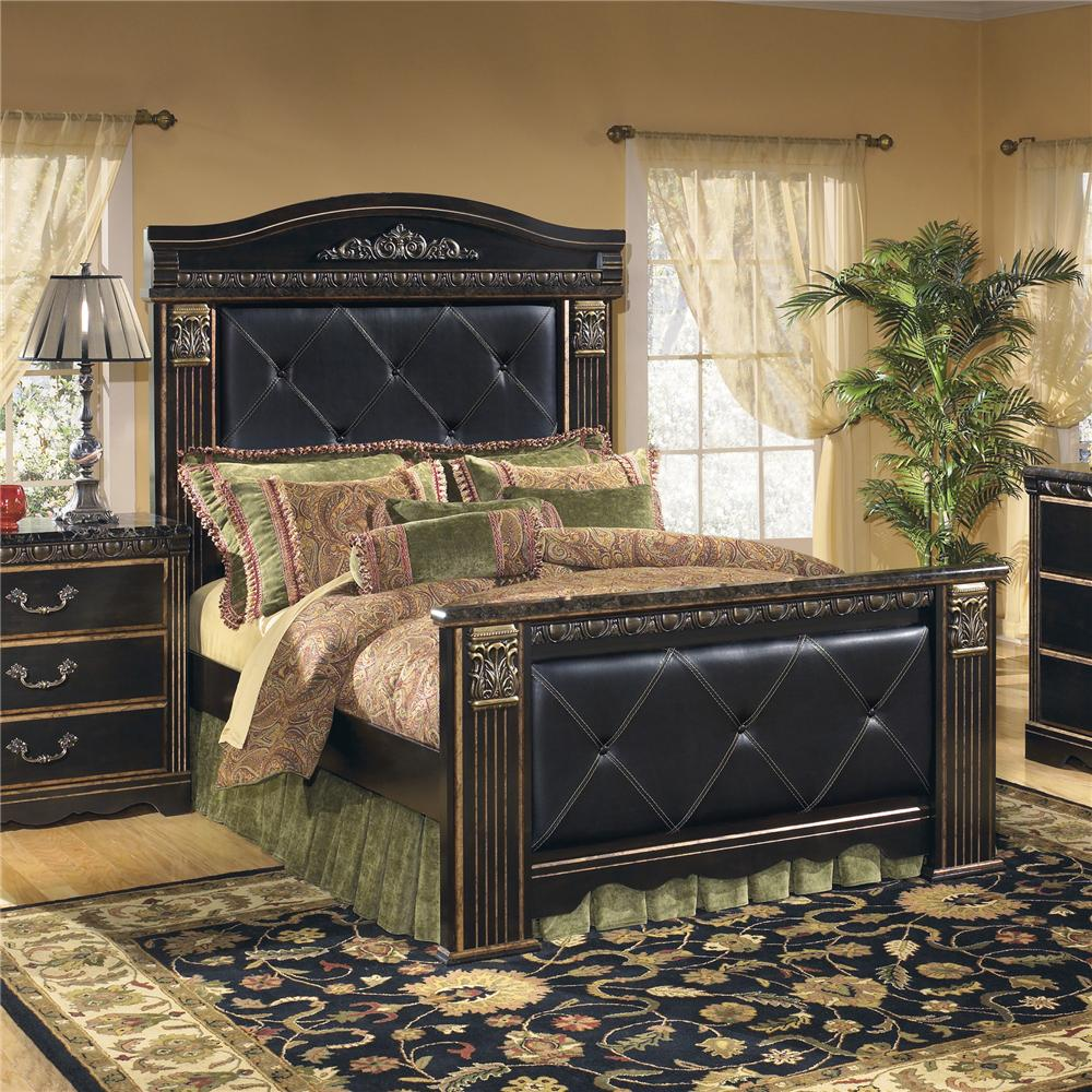 Signature Design By Ashley Coal Creek Upholstered Queen Mansion Bed Del Sol