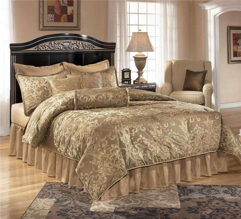 Signature design by ashley constellations full queen panel for Royal headboard
