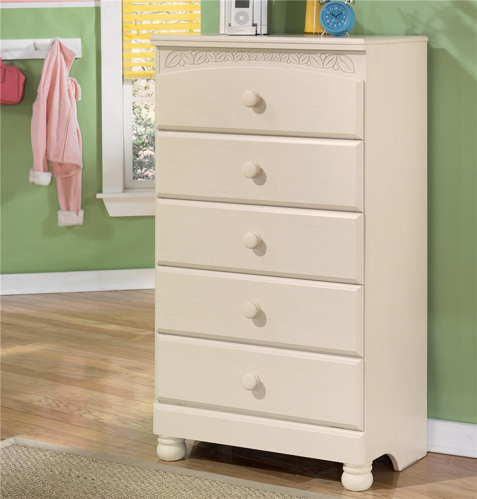 Signature design by ashley cottage retreat 5 drawer chest for Cottage retreat ii