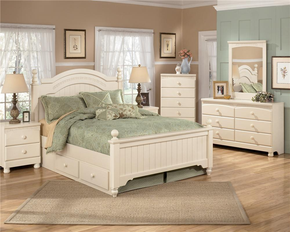 Signature design by ashley cottage retreat b213 92 2 for Cottage retreat ii bed