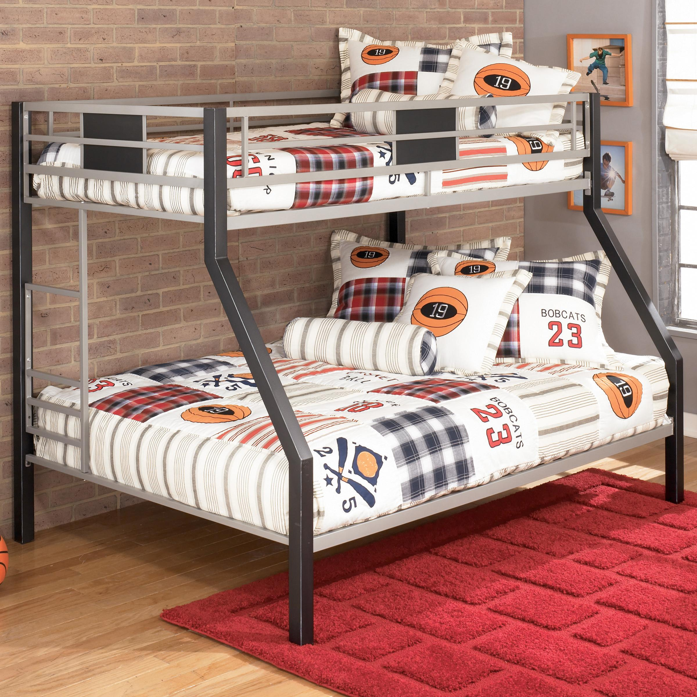 Signature Design By Ashley Dinsmore B106 56 Twin Over Full Metal Bunk Bed Del Sol Furniture