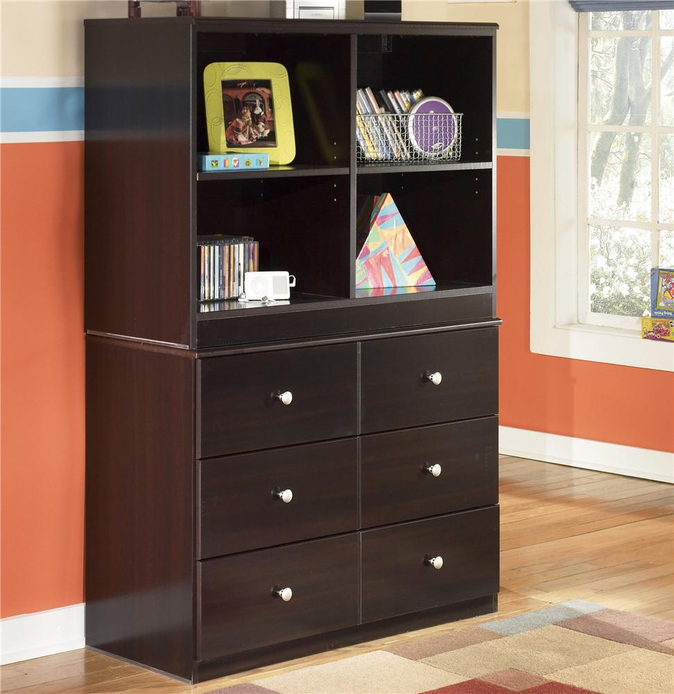 Signature Design By Ashley Embrace 6 Drawer Chest And Open