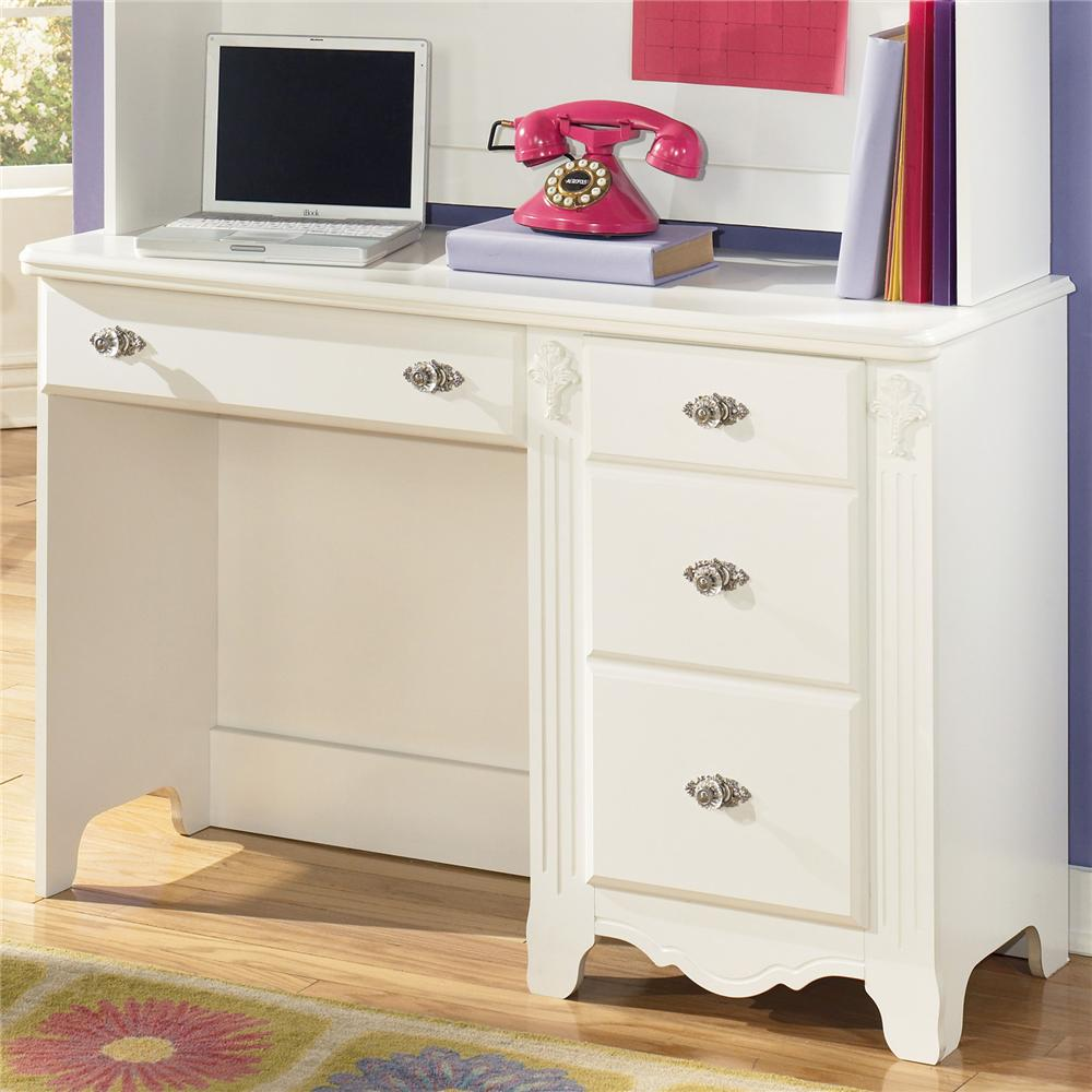 Signature design by ashley exquisite b188 22 single for Bedroom furniture with desk