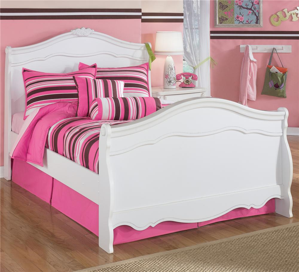 Signature Design By Ashley Exquisite Full Sleigh Bed With Decorative Shaped Moldings Household