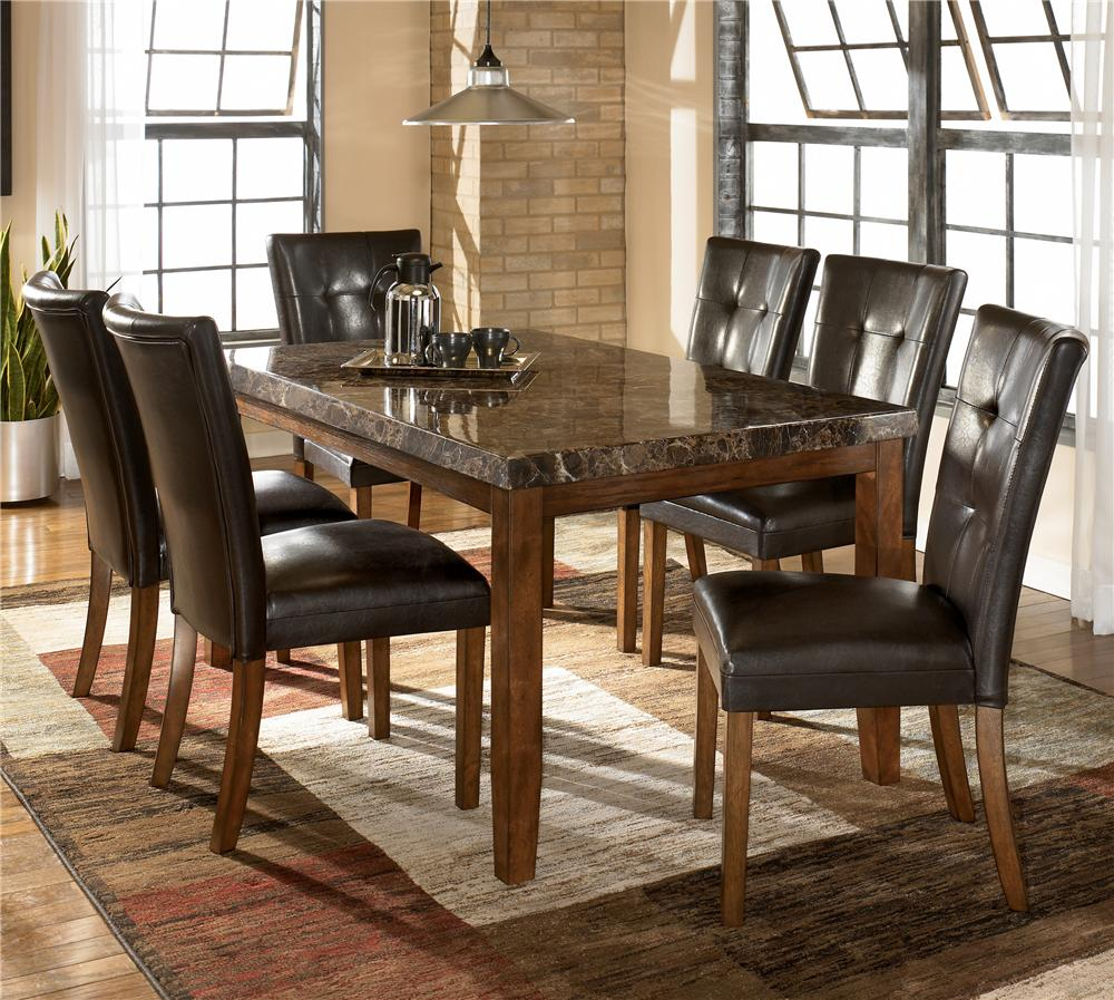 ashley signature design lacey 7 piece dining table chair set dunk bright furniture. Black Bedroom Furniture Sets. Home Design Ideas
