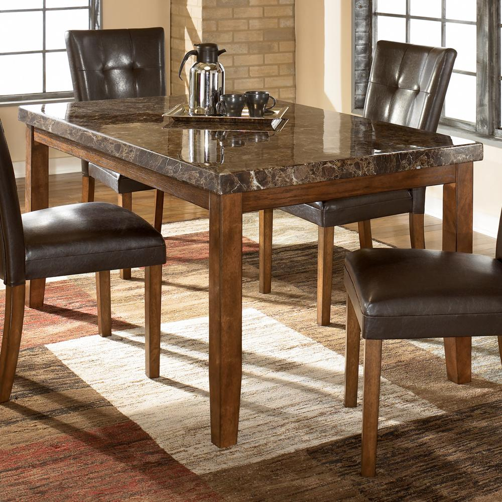 Ashley signature design lacey d328 25 rectangular dining for Dining room table 4