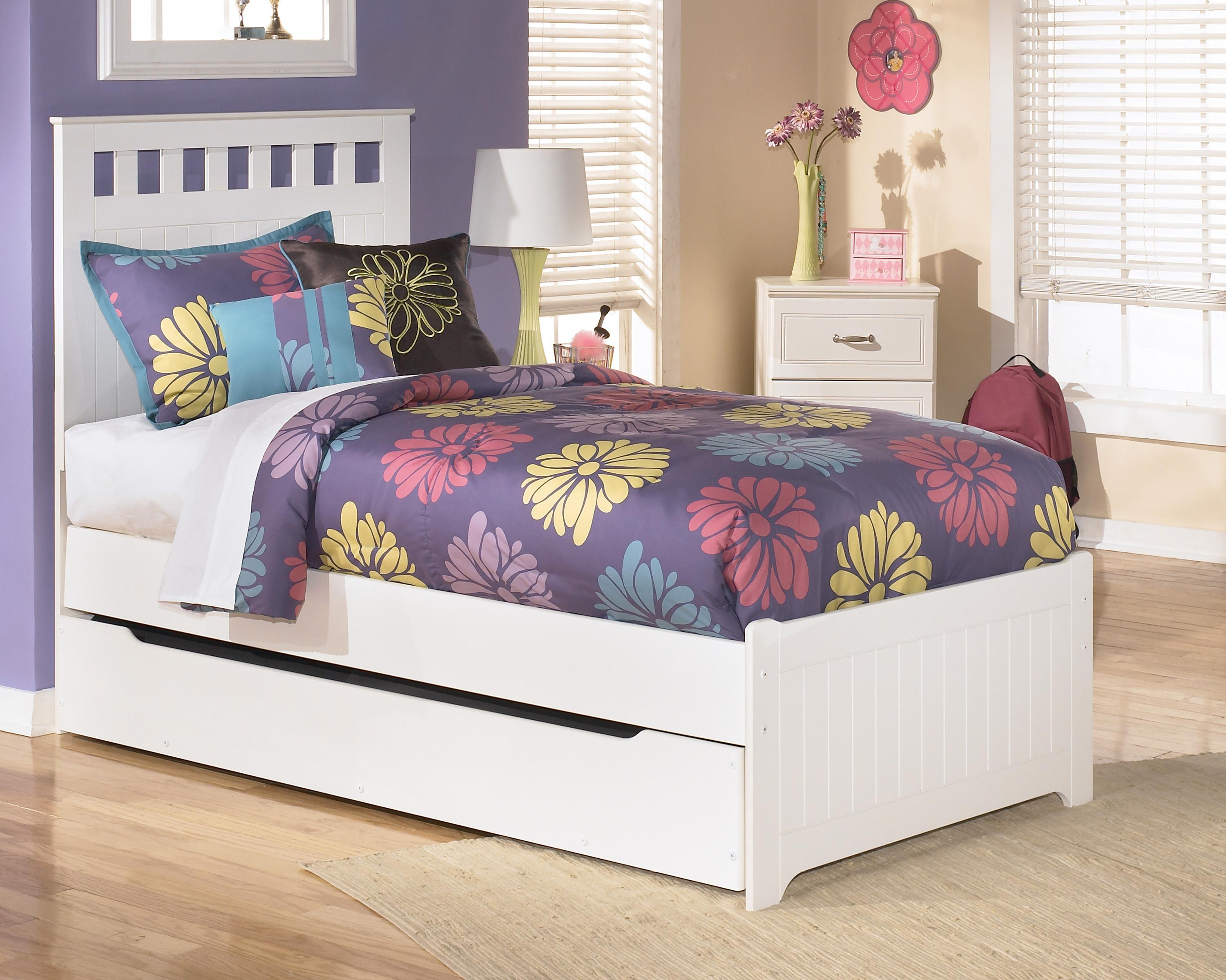signature design by ashley furniture lulu twin bed with storage trundle sam 39 s appliance. Black Bedroom Furniture Sets. Home Design Ideas
