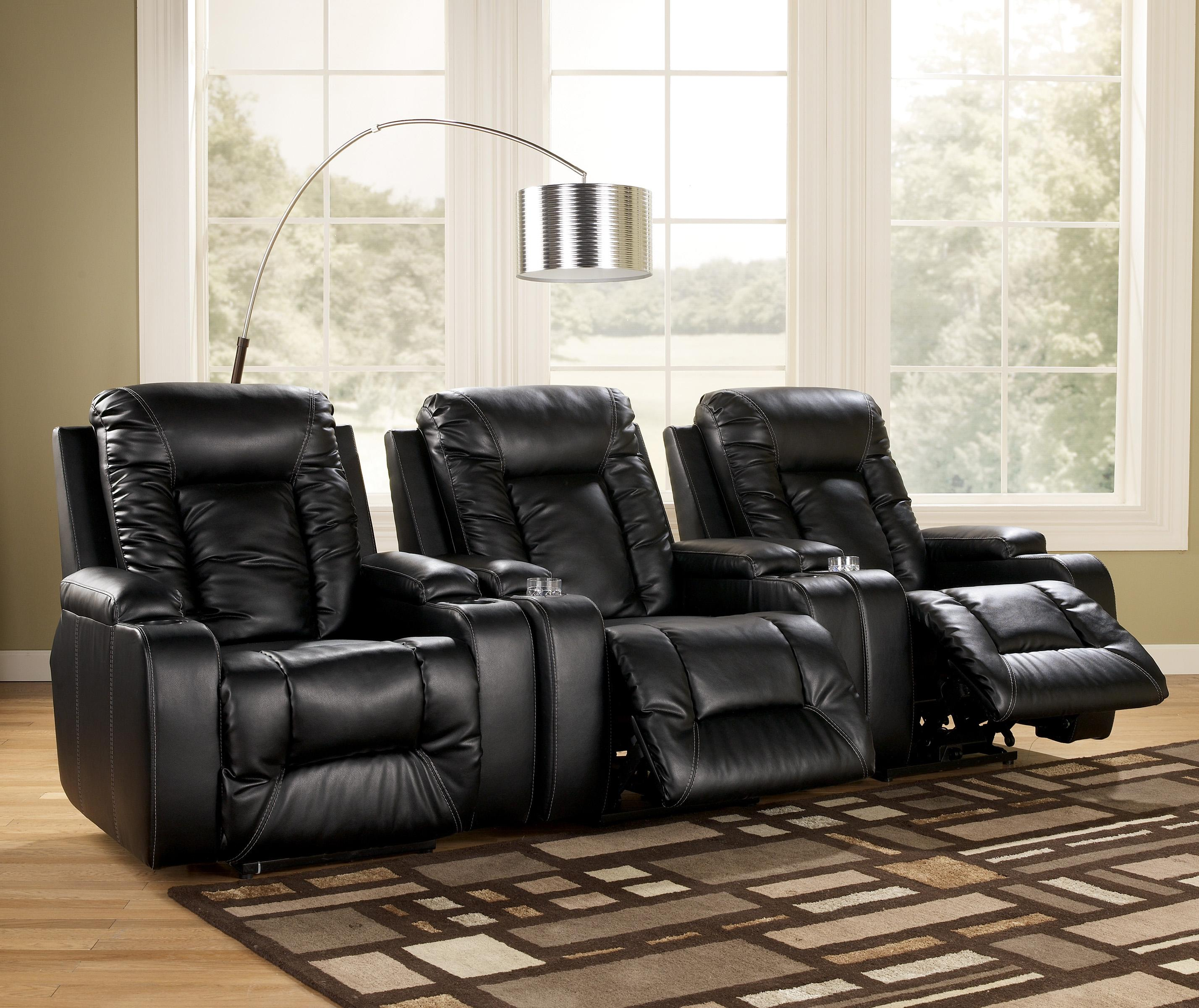 Signature Design by Ashley Matinee DuraBlendu00ae - Eclipse Contemporary Recliner with Power - Royal ...
