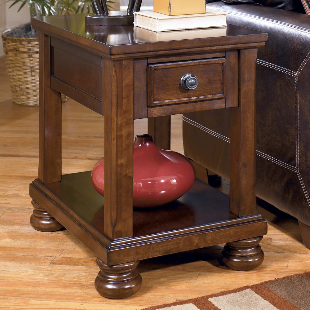 Signature design by ashley porter t697 3 chairside end for Furniture end tables