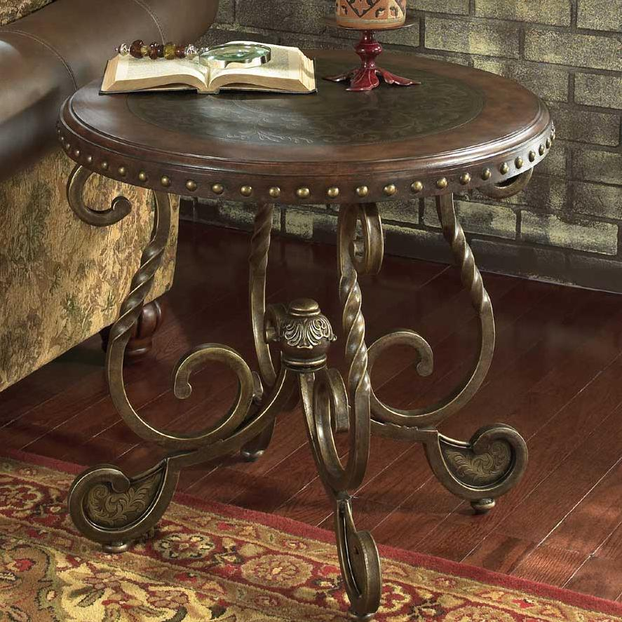 Signature design by ashley rafferty t382 6 round end table for Where can i buy vintage furniture